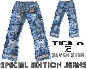Ticila SEVEN STAR Unikat Special Edition Rocker Biker Rockstar Vintage JEANS WoW