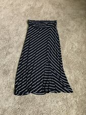 A Pea In The Pod Maternity Maxi Skirt Striped With Slit Size Large