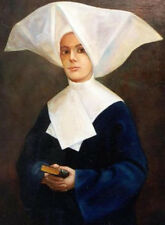 """perfect 30x30 oil painting handpainted on canvas """"sister of mercy""""@NO7945"""