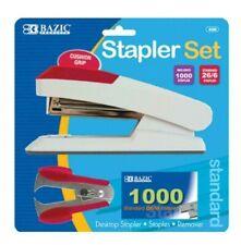 Comfort Grip Desktop Standard Stapler Set With Staples Remover And 1000 Staples