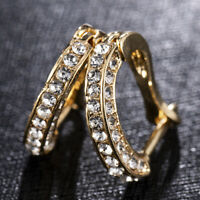 925 Silver,Gold,Rose Gold Crystal Stud Earrings for Women Party Jewelry