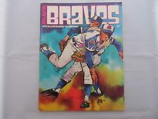 1973 Atlanta Braves Illustrated Baseball Yearbook with Hank Aaron Poster - EX-MT