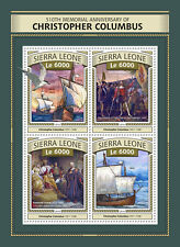 Sierra Leone 2016 MNH Christopher Columbus 510th Memorial 4v M/S Ships Stamps