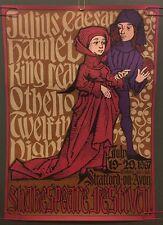 Shakespeare Festival Vintage Poster Original Pin-up 1967 Lichtenwalker Stratford