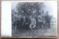 Cartolina Fotografia Germania 1917 - Gruppo di militari - posta militare viagg.