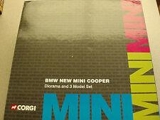 Corgi CC99121 BMW New Mini Cooper Diorama & 3 Model Set Ex Shop Stock Unopened