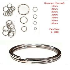 Split Rings Key Ring - 15mm 20mm 25mm 30mm 35mm - Pack Size 10 to 1000 - keyring