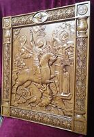 """Icon Saint George and the Dragon 3D Art Orthodox Wood Carved Icon Picture 21"""""""