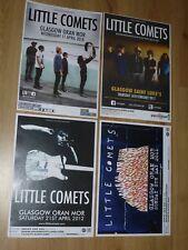 Little Comets - Scottish tour Glasgow concert gig posters x 4