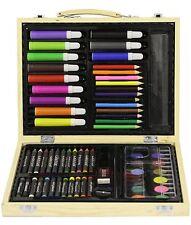 5 Valigette dell'artista kit disegno con 67 elementi con scatola in legno kit