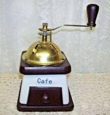 Vintage White with Blue Design coffee Grinder