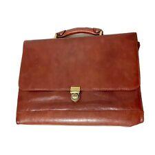 Avenues America Men's Unisex Brown Top Grain Leather Business Laptop Bag