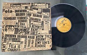 """Fela Anikulapo Kuti & His Africa '70 """"Unknown Soldier"""" 1979 Afrobeat LP Skylark"""