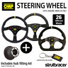 OMP Steering Wheel & Hub fits VW GOLF MK4 GTI / SEAT LEON MK1 / SKODA FABIA VRS