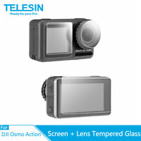 TELESIN Tempered Glass Screen & Lens Protective Film Cover for DJI OSMO Action