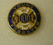 YOUNG FORESTER IOF Old/Vintage Enamel Pin Badge Independent Order of Foresters