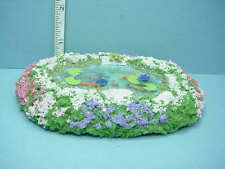 Dollhouse Miniature Oval Pond wi Goldfish, Frog & Ground Cover Handcrafted 1/12