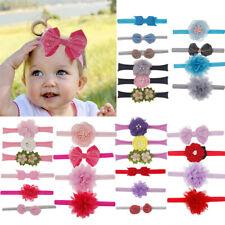 10Pcs Kids Girls Baby Floral Headband Hair Bowknot Accessories Hairband Set