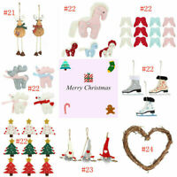 Christmas Decorations Tree Ornament Xmas Hanging Accessories Wooden DIY Pendant