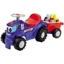 Rutscher Trettraktor Trecker Traktor Kinderfahrzeug Spielzeug Anhänger Bausteine