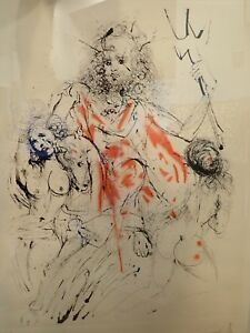 Salvador Dali Neptune (Poseidon) 1963 Pencil Signed Etching Artist Proof EA