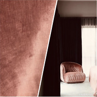 NEW Designer Velvet Upholstery Fabric - Sienna Pink- By the yard
