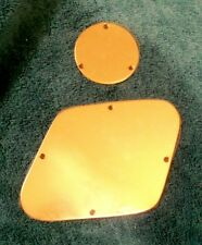 Gibson/Les Paul- back plates-set of 2 - solid brass - custom made- polished
