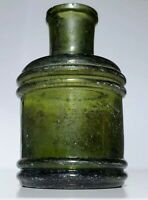 Old Antique Inkwell of the 1800s. Ink Well Glass.