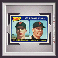 1965 Topps KEN HENDERSON JACK HIATT #497 MINT *amazing card for set* SD1k