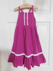 Hanna Andersson Sundress Magenta Girls 100 or 4 Years NWT