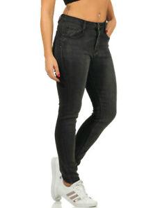 Damen Push-Up Jeans Hose Shape High-Waist Röhrenjeans Schwarz  38 40 42 44 46 48