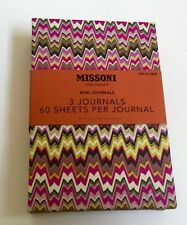 NIP Missoni For Target Journals Notebooks set of 3 new Purple and Black