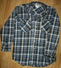 Key Flannel Size M Heavyweight Blue Beige