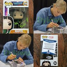 Pom klementieff signed Autographed Mantis FUNKO POP Guardians Galaxy Beckett BAS