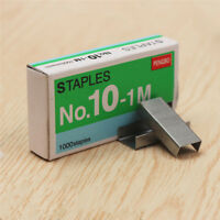 1000pc SIZE NO.10 Staples Box for Desktop Stapler Normal Staples Metal Tape Tool