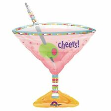 Anagram Supershape Large Foil Balloon Martini Glass Birthday Party Accessories