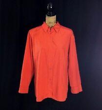 MAG Magaschoni Silk Cotton Shirt Oversize Paprika Orange Long Sl Legging Work LN