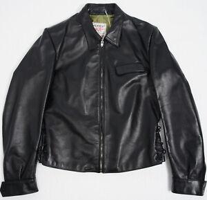 RRP £895 Lewis Leathers OUTLET MENS JACKET Sprint Shirt Black Horse 40