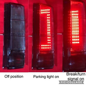 FORD F150 TRUCK BRONCO 80-86 SMOKE BUILT-IN LED TAIL LIGHTS RETROFIT NEW RARE