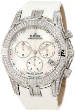 Edox Women's 10404 3DB NAD Grand Ocean Chronograph MOP 200 DIAMONDS Date Watch