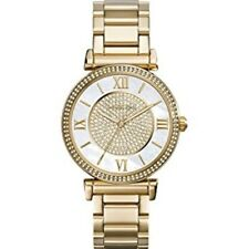 Michael Kors Women's MK3332 Caitlin Gold Tone Crystal Pave Dial Watch