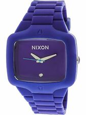 Authentic Nixon A139-230-00 Player 45mm Purple Rubber A139230 Unisex Watch New