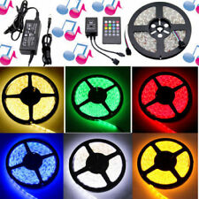 Music RGB 5050 Lighting Strip 300leds Melody Remote Ac240v to Dc12v Adapter
