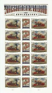 TRANSCONTINENTAL RAILROAD 150TH ANNIVERSARY STAMP SHEET -- #5378-#5380 FOREVER