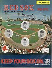 1975 MLB Baseball Program, Milwaukee Brewers @ Boston Red Sox, unscored ~ Fair