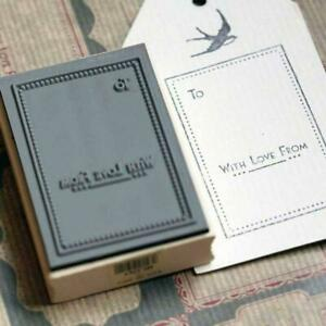 Rubber Stamp - To ... With Love From Stamp - Wooden Rubber Craft Stamp