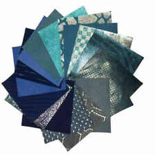 BLUE MIX leather scraps Metallic 4/8pcs Blue pre cut sheets for crafts 5x5 inch