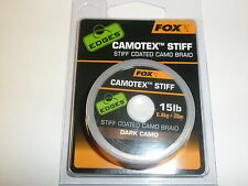 Fox Edges Camotex Stiff Hooklink Material Dark Camo 15lb 20m Carp fishing