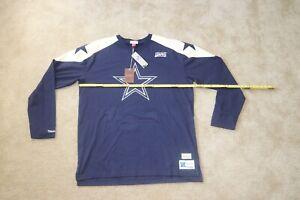 NEW Dallas Cowboys  Mitchell & Ness Throwback Long Sleeve  T-Shirt 2XLT