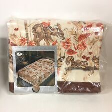 Cannon American Wilderness Thermal Blanket Satin Binding Vintage 72x90 Twin Full